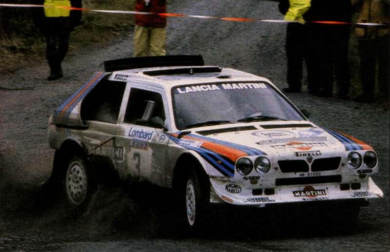 Lancia Delta S4 Rally Car. Lancia Delta S4, un carro DE